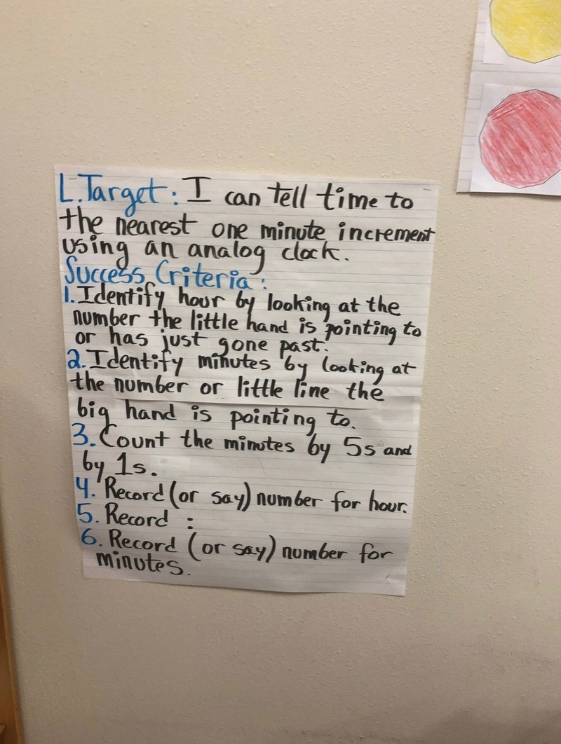 Learning Targets & Success Criteria