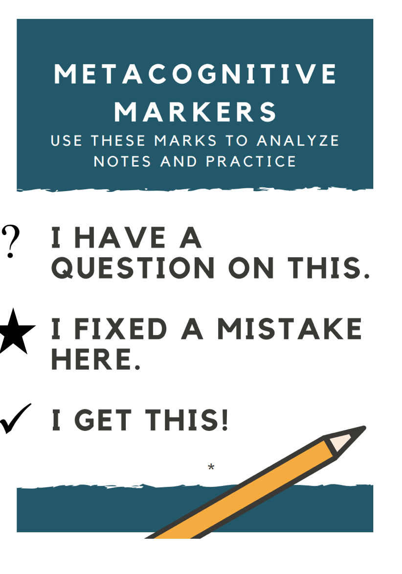 Metacognitive Markers in Math