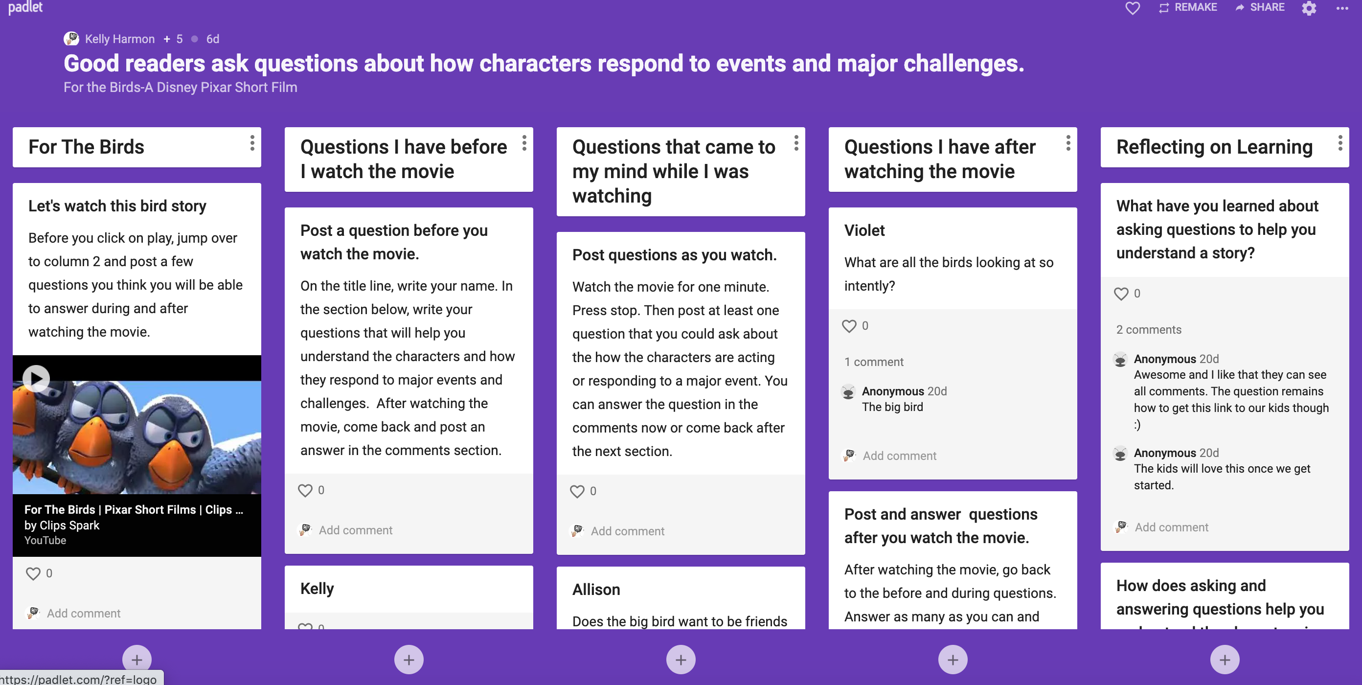 Using Padlet to Create Discussion Groups