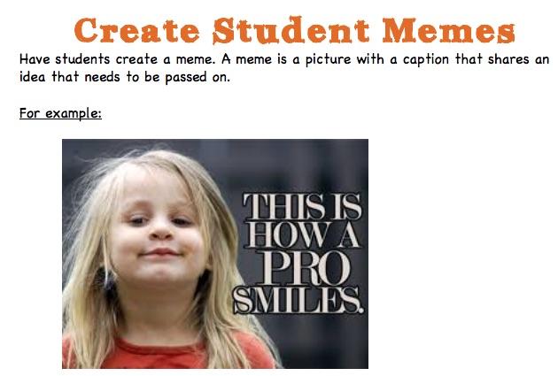Student Meme Activity