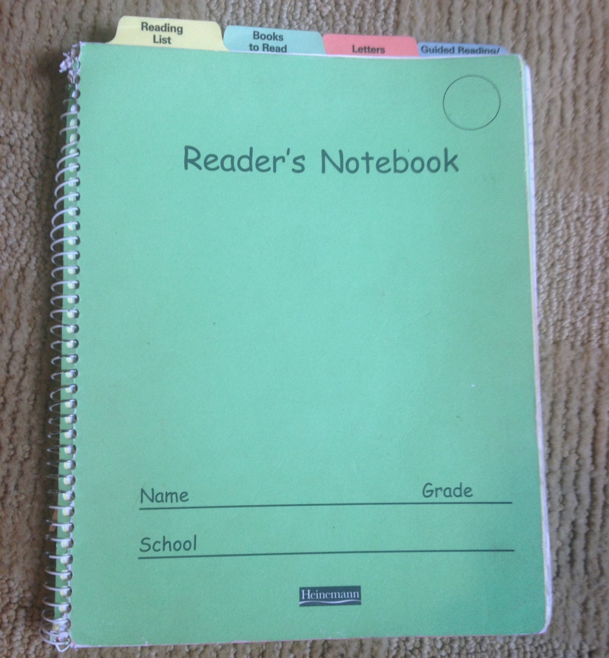 Reader's Notebook